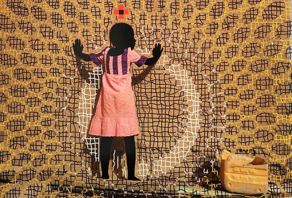 Saïdou Dicko, La Pousseuse de Mur, T Saturne, Ouaga-Paris, 2019