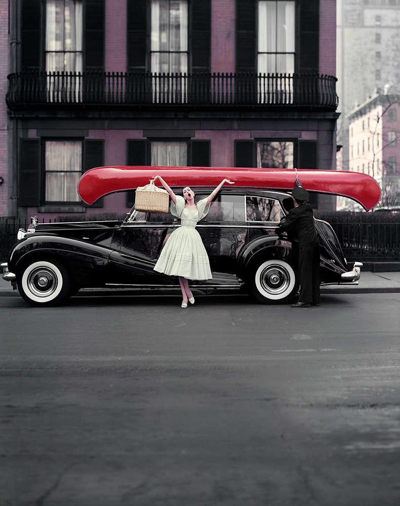 William Helburn, Red Canoe, Barbara Mullen, Gramercy Park, New York, NY, 1957