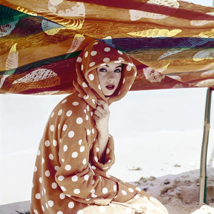 """Norman Parkinson, """"At the Beach"""", British Vogue, May, 1957"""