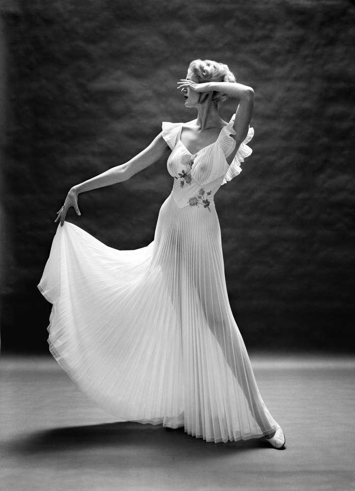 Mark Shaw, VF Pleated Floral Bodice, New York, , ca.1950
