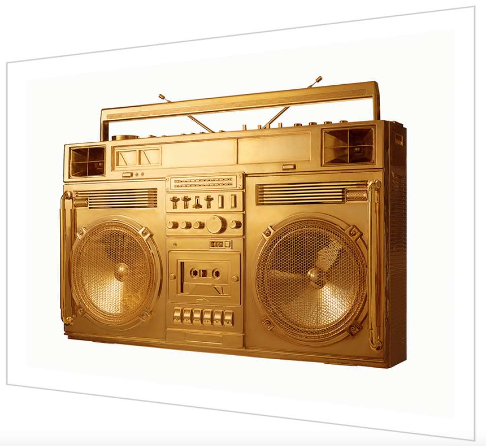 Lyle Owerko, Boombox Gold - version .001, 2018