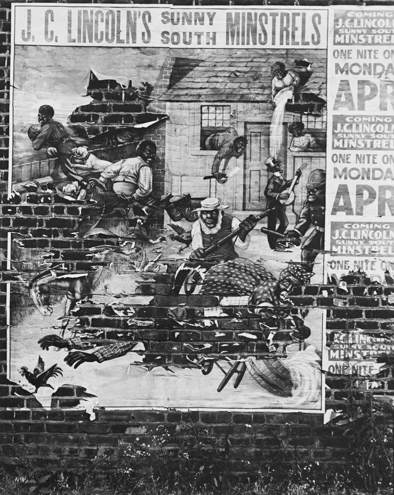 Walker Evans, Minstrel Poster, Alabama, 1936