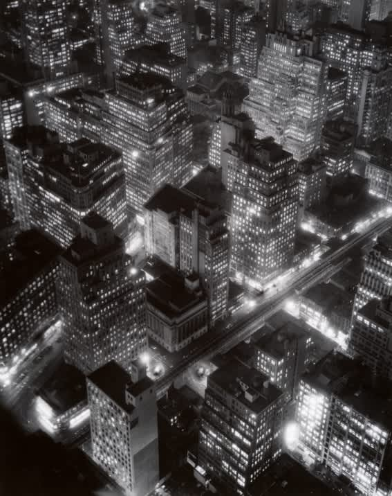 Berenice Abbott, Nightview, New York at Night, Empire State Building, 1932