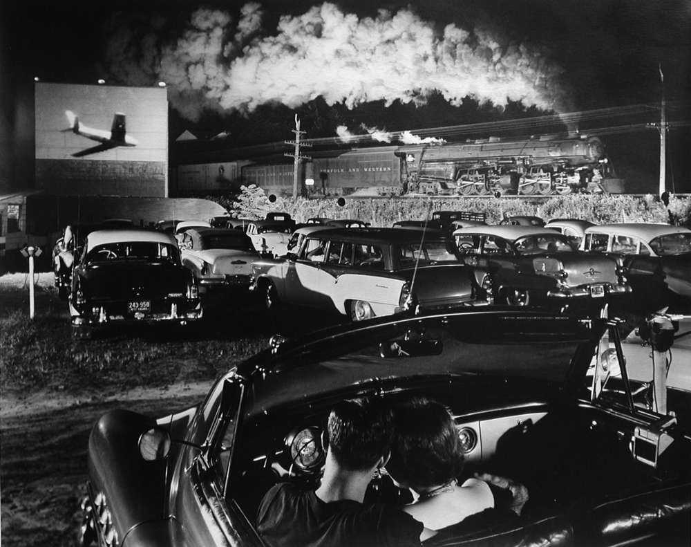 O. Winston Link, Hot Shot Eastbound at the Drive-In, Iaeger, West Virginia, 1956