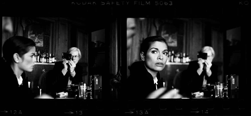 Harry Benson, Warhol, Andy & Bianca Jagger, The Factory, NYC, 1977