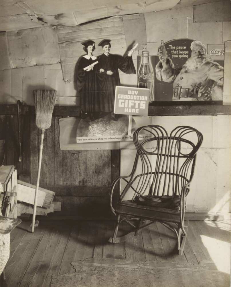 Walker Evans, Corner of Coal Miner's Home, Virginia, 1935