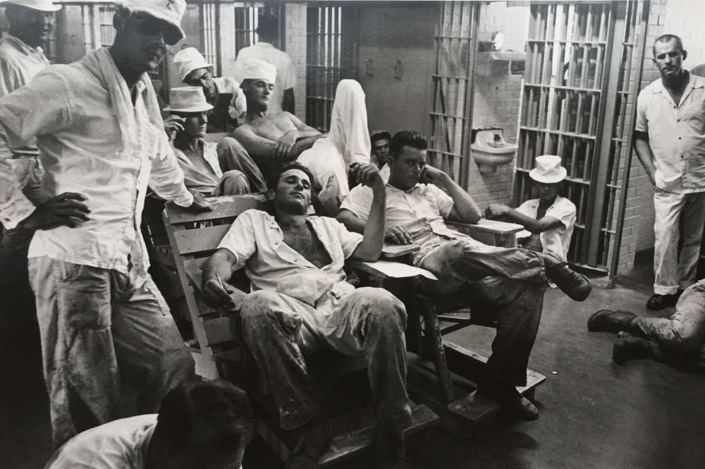 Danny Lyon, Texas: Ramsey Prison Felons, Six Wing Cell Block, 1968