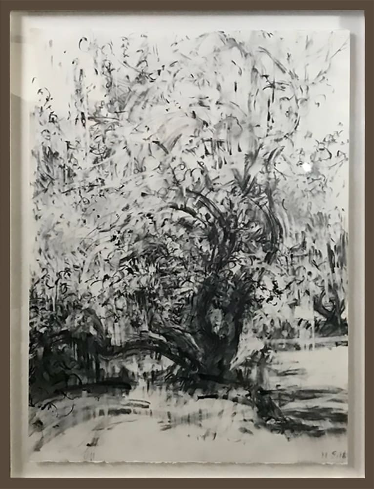 Hawthorne and Apple trees by Kate Giles