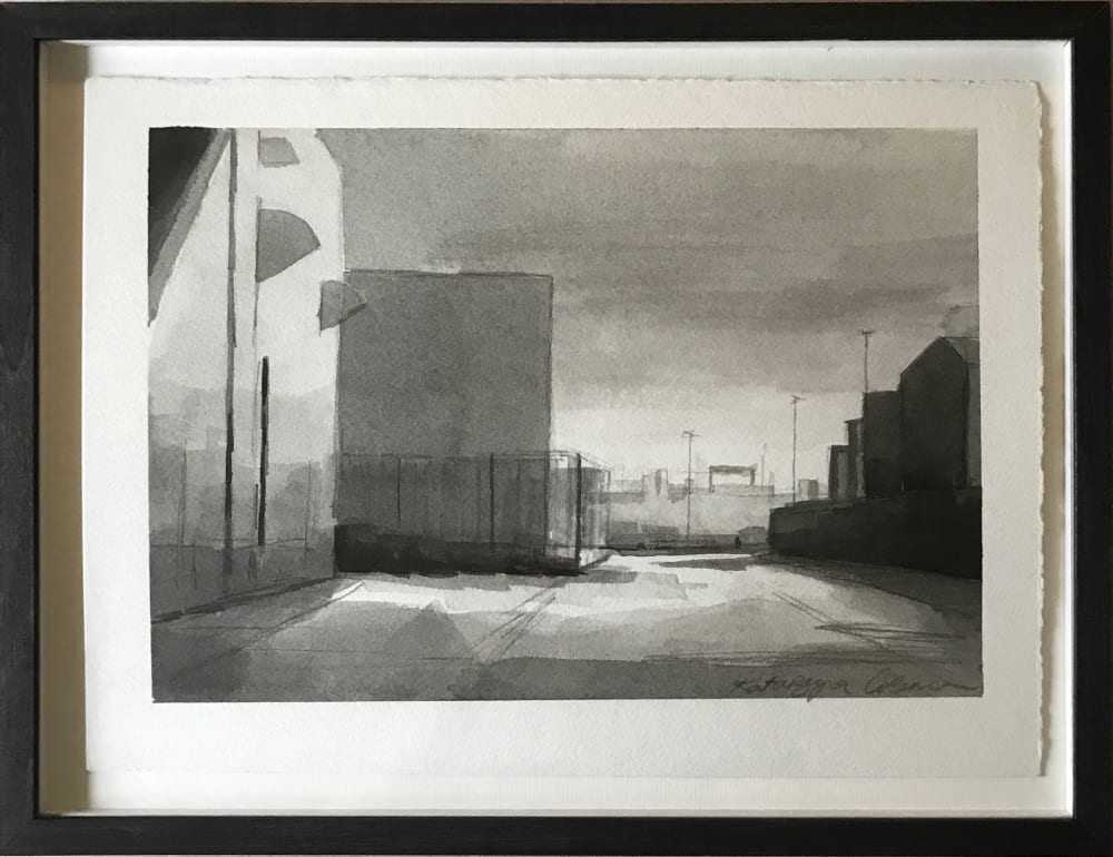 Fenner Road, Great Yarmouth, ink drawing by Katarzyna Coleman