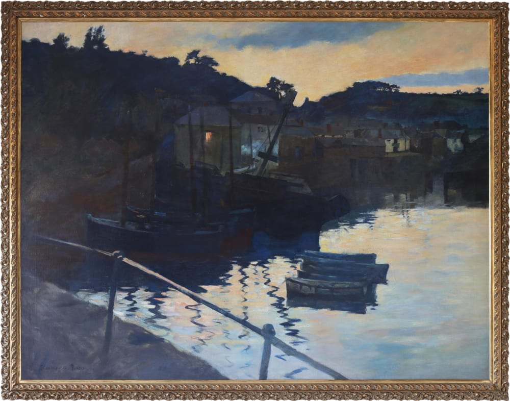 Home-Along: Evening study 1905 by Stanhope Alexander Forbes, in frame