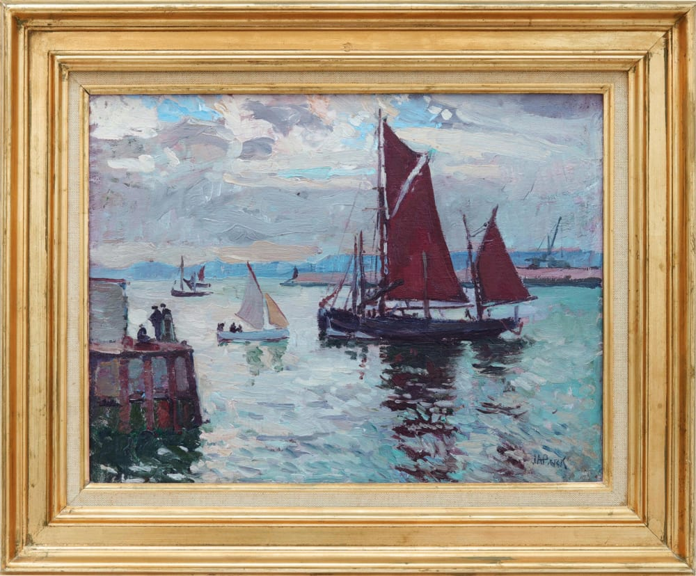 Red Sails by John Anthony Park, in frame