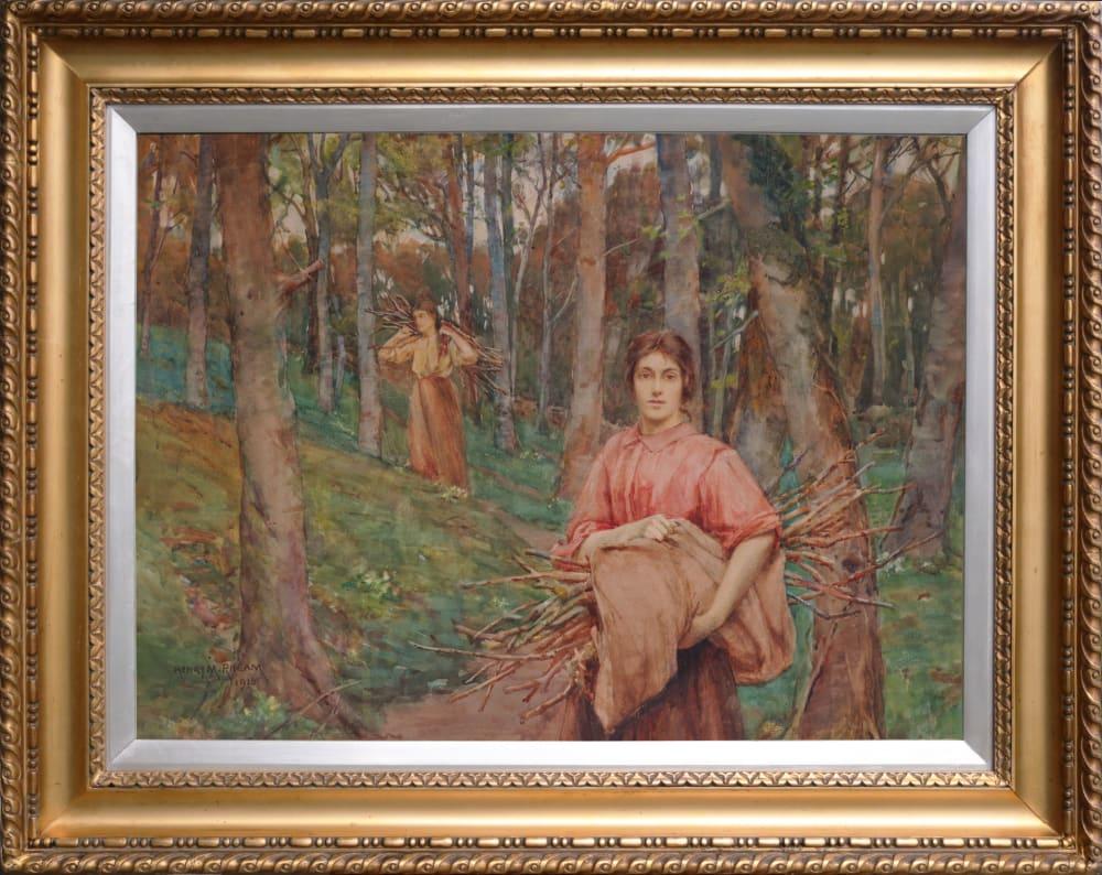 Gathering Firewood by Henry Meynell Rheam