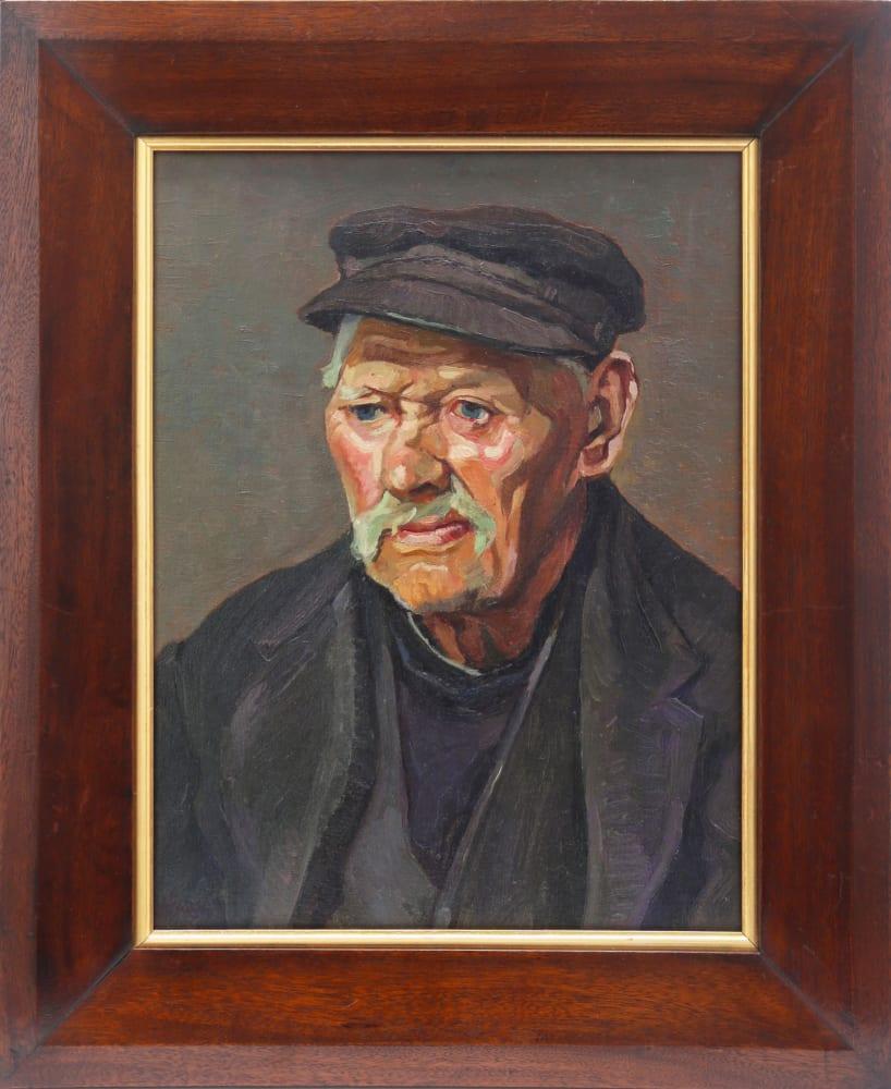 St. Ives Fisherman by John Anthony Park, in frame