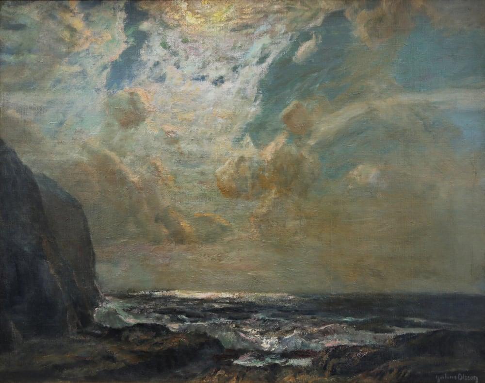 Moonlit Sky by Julius Olsson