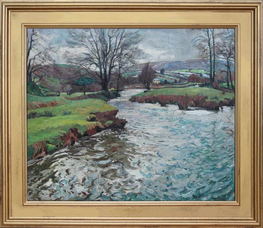 River Landscape on Exmoor by John Anthony Park