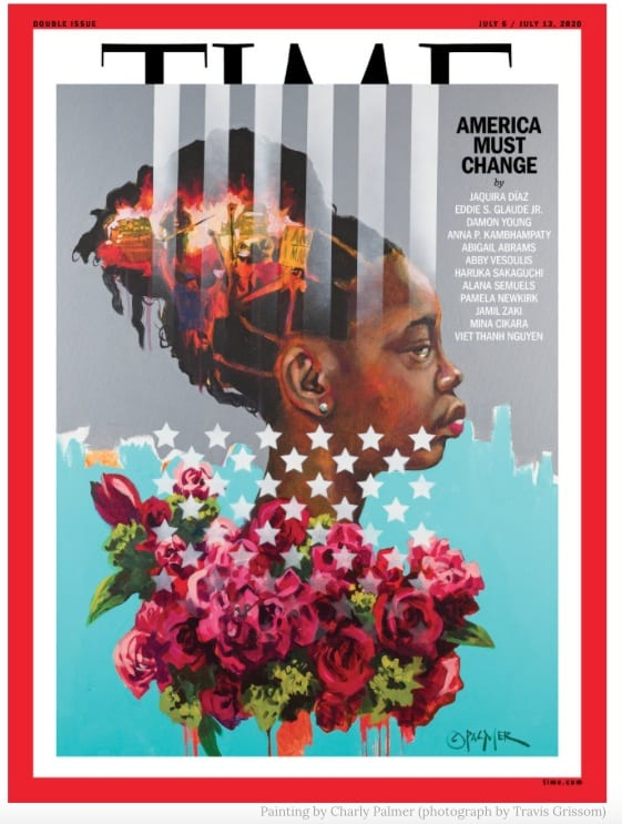 The Story Behind TIME's 'America Must Change' Cover, Painting by Charly Palmer for TIME (Photo: Travis Grissom)