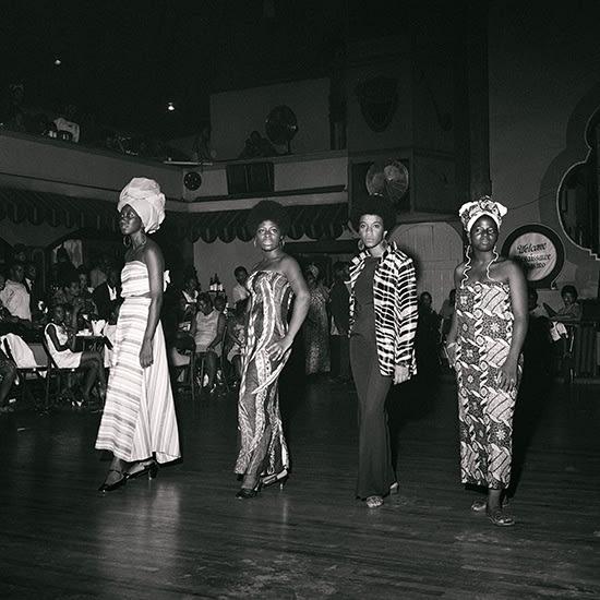 Kwame Brathwaite, Untitled (Grandassa Models at Rockland Palace, Zeta, Sikolo, Pat and Eleanor) (1967). Image courtesy of the artist and Philip Martin Gallery, Los Angeles.