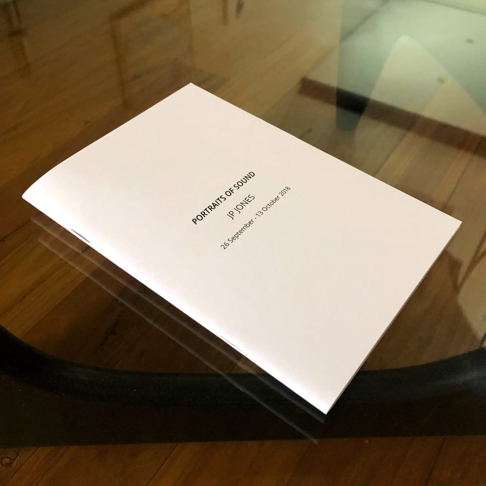 JP Jones - Portraits of Sound Exhibition Catalogue