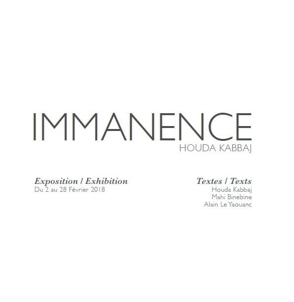 Catalogue Immanence