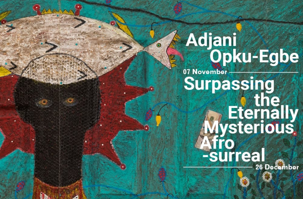Adjani Okpu-Egbe, Fabricated Anthropology ( Quadriptych), 2019 Mixed media on wood, 200 x 304 x 4 cm