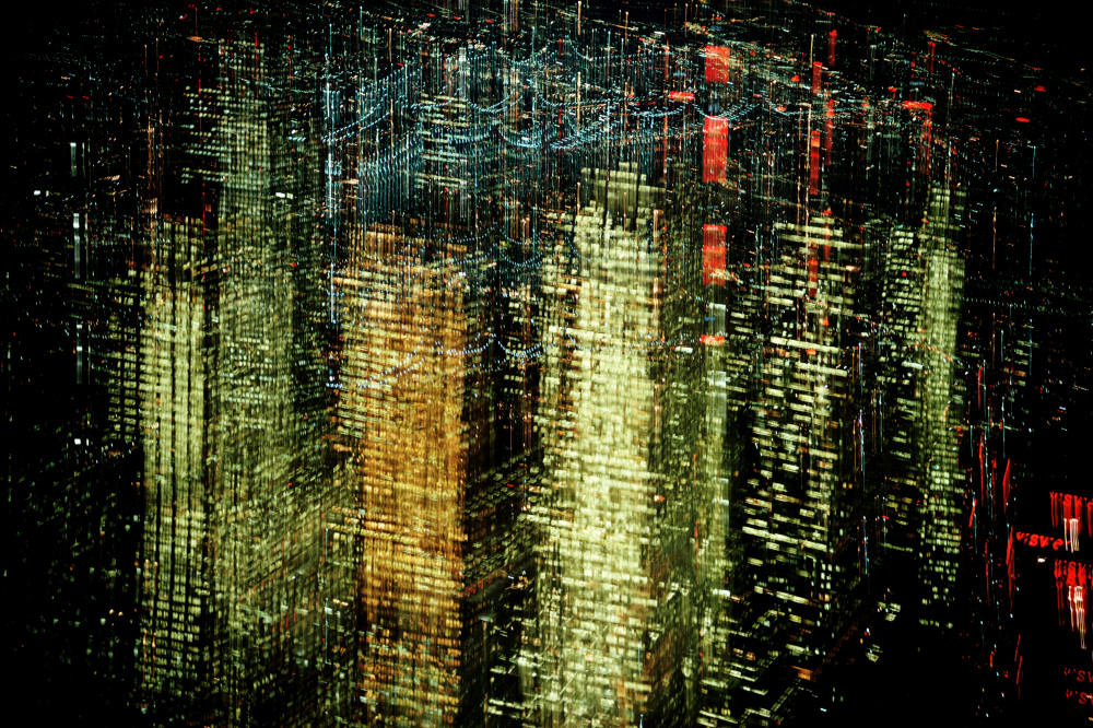 Ernst Haas, Lights of New York City, NY , 1972