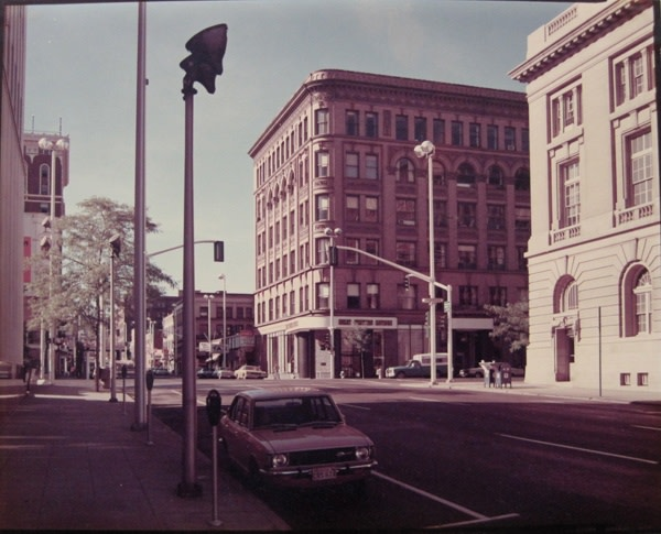 Stephen Shore, Lincoln Street & Riverside Street, Spokane, WA, 1974