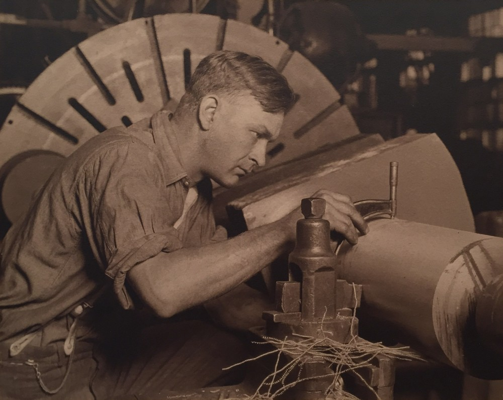 Lewis Hine, Man with Micrometer, c. 1922