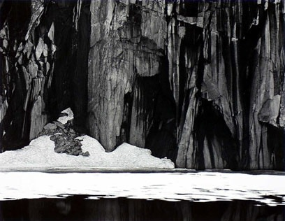 Ansel Adams, Frozen Lake and Cliffs, Kaweah Gap Sequoia National Park. Calfornia, 1932