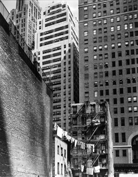 Berenice Abbott, Construction Old and New (38 Greenwich Street from 37 Washington Street), 1936