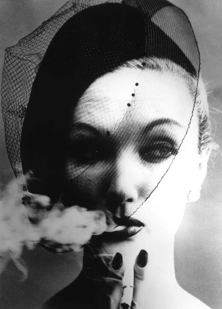 William Klein, Smoke + Veil, Paris (Vogue), 1958