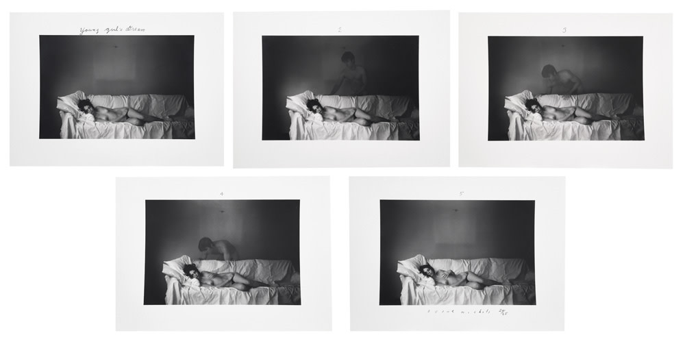 Duane Michals, The Young Girl's Dream, 1969