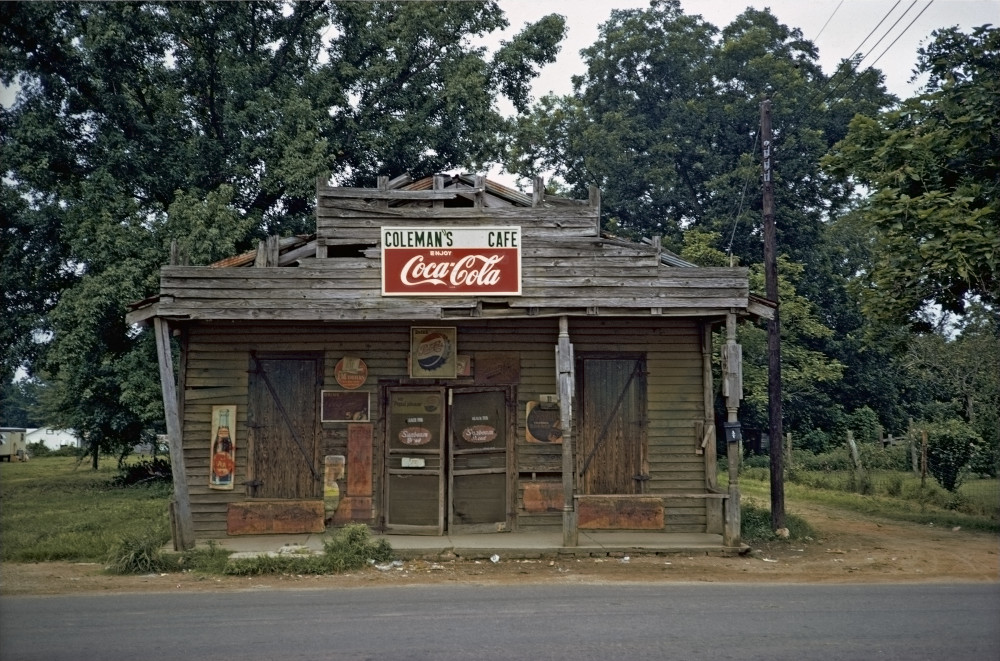 William Christenberry, Colemans s Cafe, Greensboro, Alabama, 1973