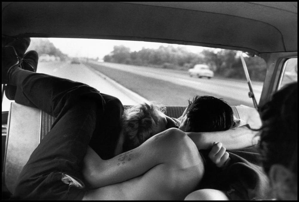 Bruce Davidson, Brooklyn Gang (couple necking in car), 1959