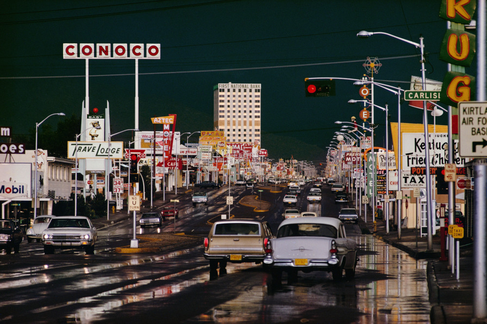 Ernst Haas, Route 66 Albuquerque, New Mexico, 1969