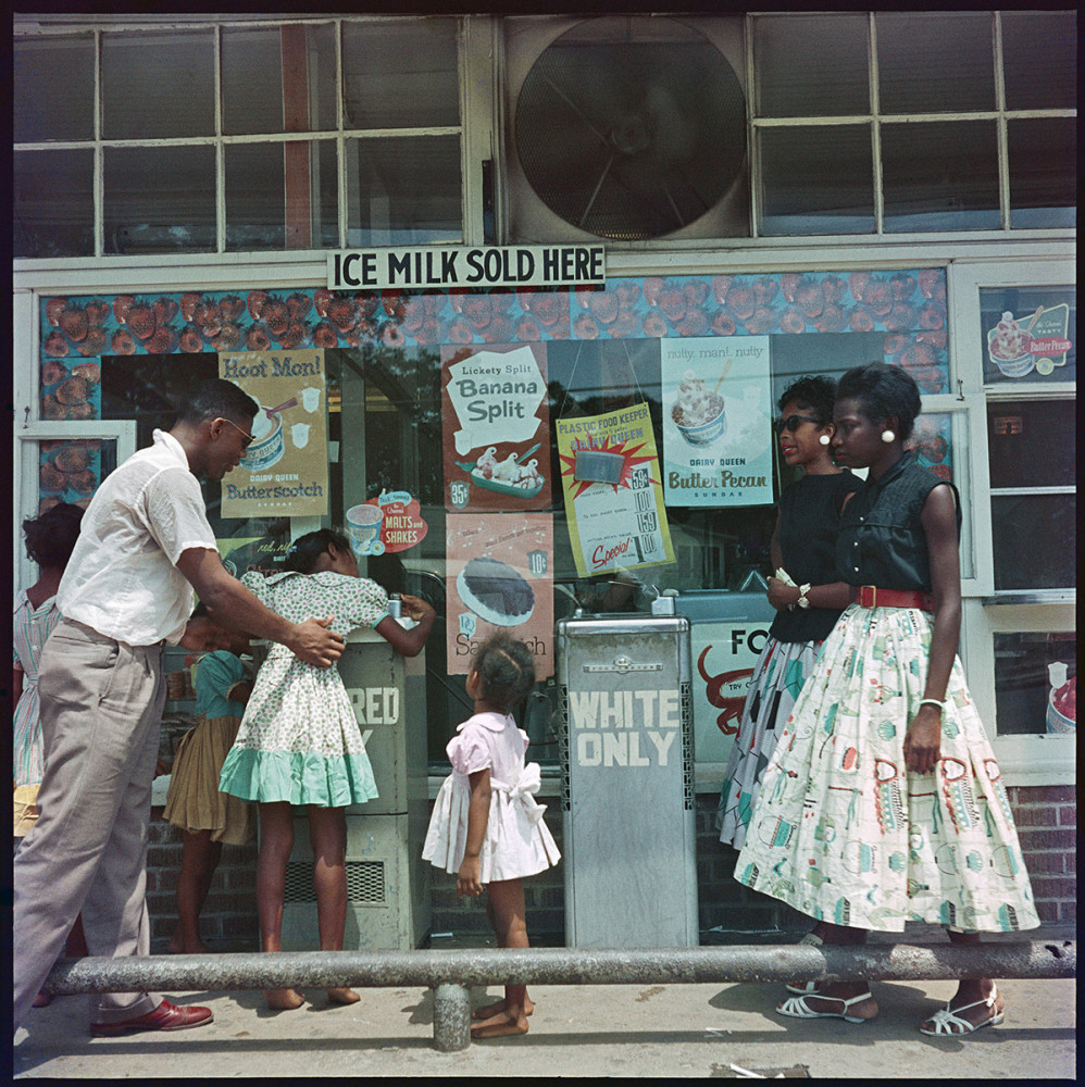 Gordon Parks, At Segregated Drinking Fountain, Mobile, Alabama, (37.009), 1956