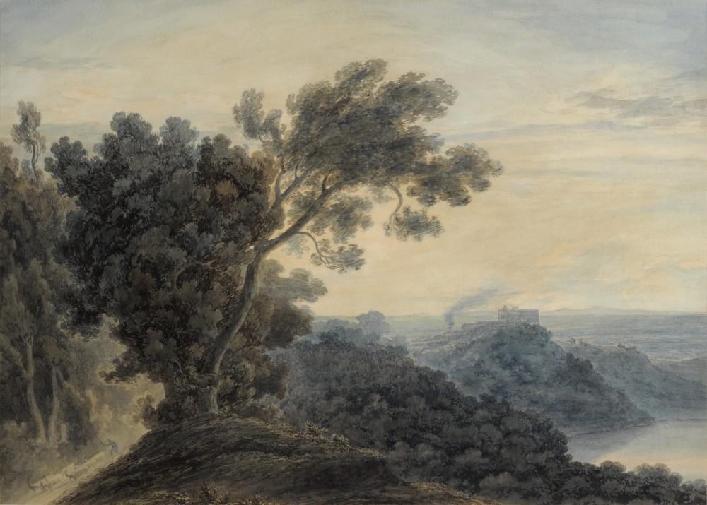 Lake Albano with Castel Gandolfo