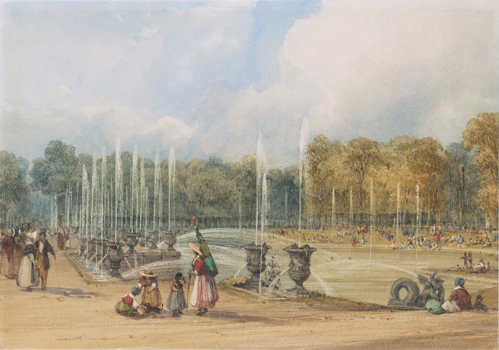 The Gardens of Versailles with the Fountain of Neptune, 1837