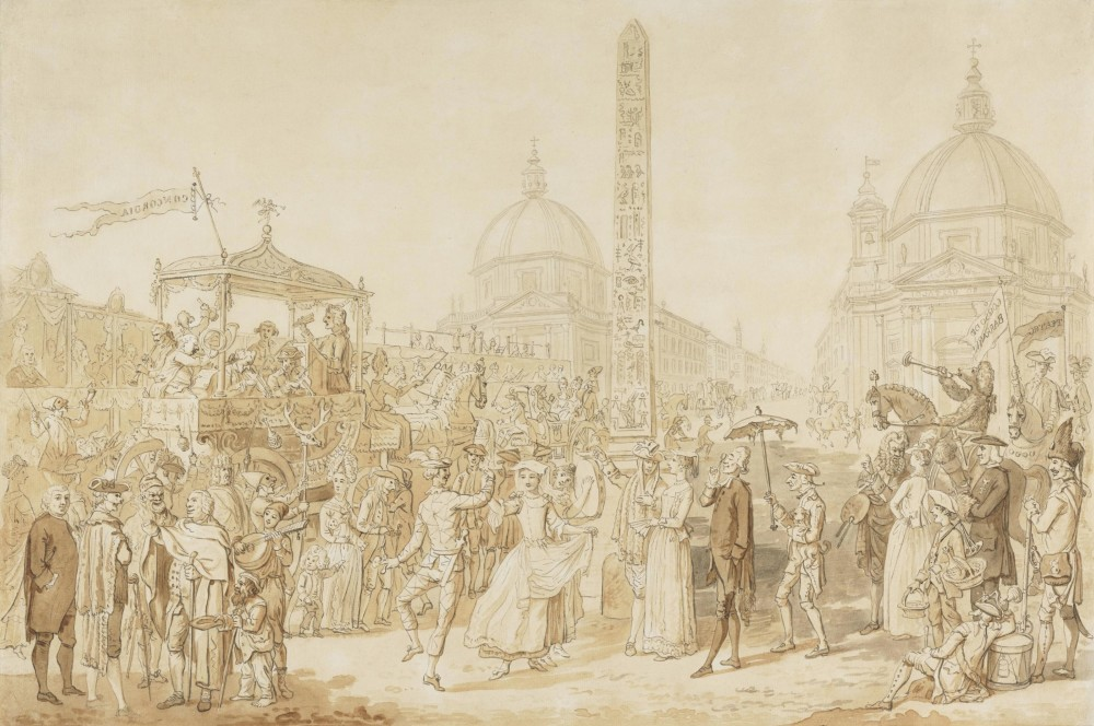 The Carnival at Rome: The Piazza del Popolo