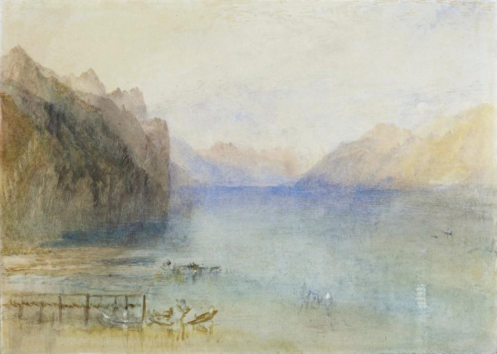 LAKE LUCERNE AT DUSK