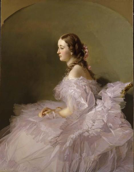 "<div class=""artist""><strong>Franz Xaver Winterhalter</strong></div><div class=""title_and_year""><em>Lidia Schbelsky, Baroness Stael- Holstein</em></div><div class=""medium"">Oil on canvas, arched top</div><div class=""dimensions"">144 x 110 cm</div>"