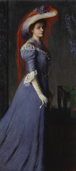 "<div class=""artist""><strong>Grace Gassette</strong></div><div class=""title_and_year""><em>Portrait of a Lady</em>, <span class=""title_and_year_year"">1907</span></div><div class=""medium"">Oil on canvas</div><div class=""dimensions"">177.8 x 80 cm (70 x 31 1/2 in)<br/> With frame: 201 x 102 x 8 cm (79 1/8 x 40 1/8 x 3 1/8 in.)</div>"