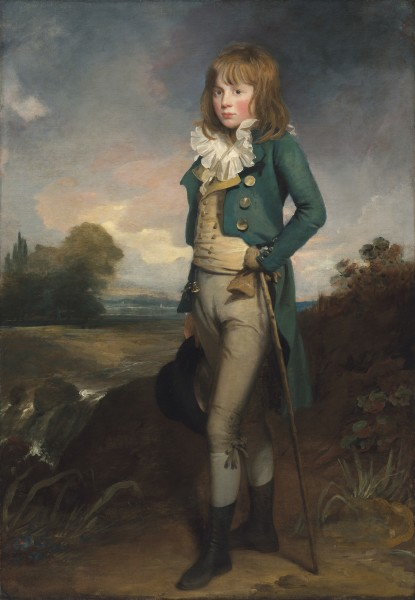 """<div class=""""artist""""><strong>Sir William Beechey, R.A.</strong></div><div class=""""title_and_year""""><em>Portrait of James Ramsay Cooper</em>, <span class=""""title_and_year_year"""">c. 1791</span></div><div class=""""medium"""">Oil on canvas</div><div class=""""dimensions"""">161.6 x 111.1 cm (63 5/8 x 43 3/4 in.)</div>"""