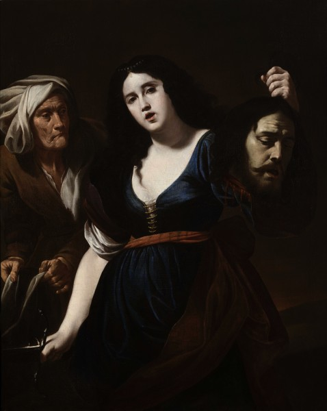 """<div class=""""artist""""><strong>Andrea Vaccaro</strong></div><div class=""""title_and_year""""><em>Judith with the Head of Holofernes</em>, <span class=""""title_and_year_year"""">c. 1620s</span></div><div class=""""medium"""">Oil on canvas</div><div class=""""dimensions"""">127.5 x 101 cm (50 1/4 x 39 3/4 in.)<br/> With frame: 149 x 126 x 6.5 cm (58 5/8 x 49 5/8 x 2 1/2 in.)</div>"""