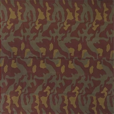 "<div class=""artist""><strong>Alighiero Boetti</strong></div><div class=""title_and_year""><em>Mimetico</em>, 1967</div><div class=""medium"">Military canvas</div><div class=""dimensions"">140 x 140 cm<br/>55 1/8 x 55 1/8 in</div>"