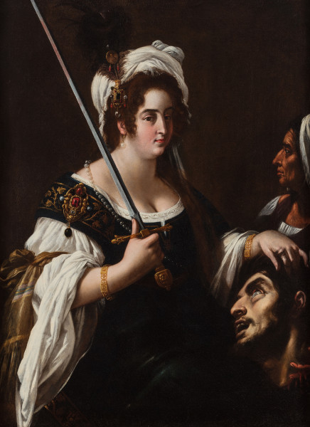 "<div class=""artist""><strong>Giovanni Baglione</strong></div><div class=""title_and_year""><em>Judith with the head of Holofernes</em></div><div class=""medium"">Oil on canvas</div><div class=""dimensions"">129 x 95 cm/ 50.8 x 37.4 in</div>"