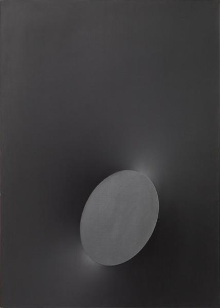 "<div class=""artist""><strong>Turi Simeti</strong></div><div class=""title_and_year""><em>Un Ovale Nero (A Black Oval)</em>, <span class=""title_and_year_year"">1968</span></div><div class=""medium"">Acrylic on canvas</div><div class=""dimensions"">100 x 70 cm (39 3/8 x 27 1/2 in.)</div>"