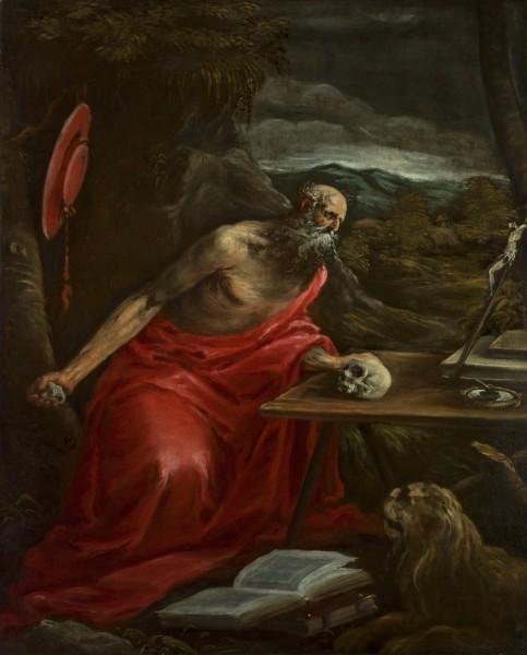 "<div class=""artist""><strong>Jacopo da Ponte, called Jacopo Bassano</strong></div><div class=""title_and_year""><em>Penitent St Jerome</em></div><div class=""medium"">Oil on canvas</div><div class=""dimensions"">88 x 110 cm (34 5/8 x 43 1/4 in.)</div>"