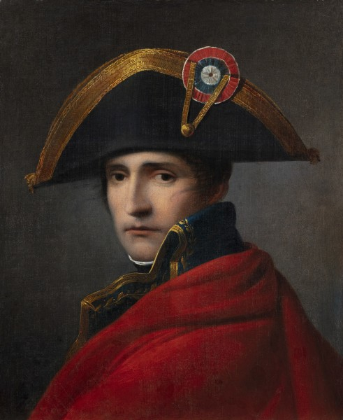 """<div class=""""artist""""><strong>Ferdinand Jagemann</strong></div><div class=""""title_and_year""""><em>Napoleon Bonaparte, First Consul</em>, <span class=""""title_and_year_year"""">first quarter of the nineteenth century</span></div><div class=""""medium"""">Oil on canvas</div><div class=""""dimensions"""">61 x 49 cm (24 1/8 x 19 1/4 in.)<br/> With frame: 81.5 x 73 x 8 cm (32 1/8 x 28 3/4 x 3 1/8 in.)</div>"""