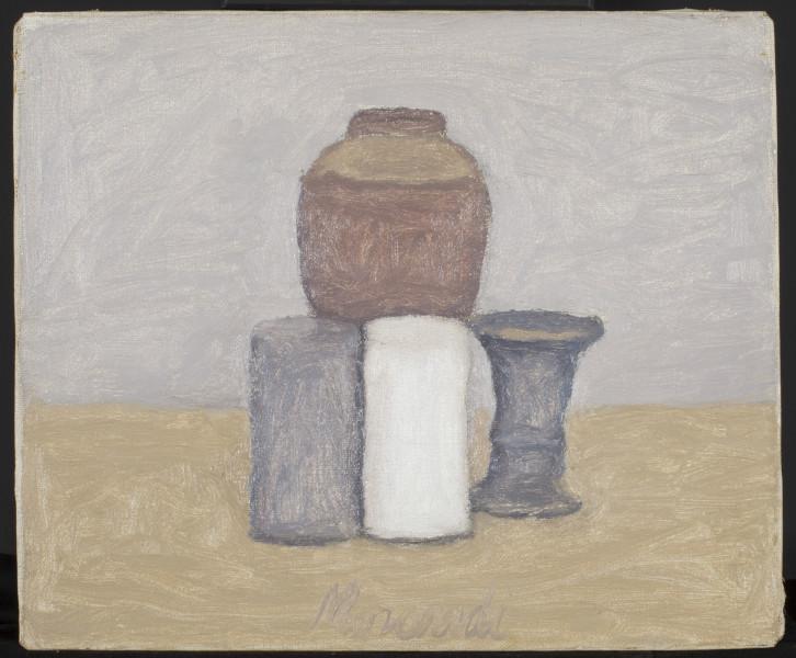 <div class=&#34;artist&#34;><strong>Giorgio Morandi</strong></div><div class=&#34;title_and_year&#34;><em>Natura Morta</em>, 1961</div><div class=&#34;medium&#34;>Oil on canvas</div><div class=&#34;dimensions&#34;>25 x 30 cm<br/> 9 7/8 x 11 3/4 in</div>