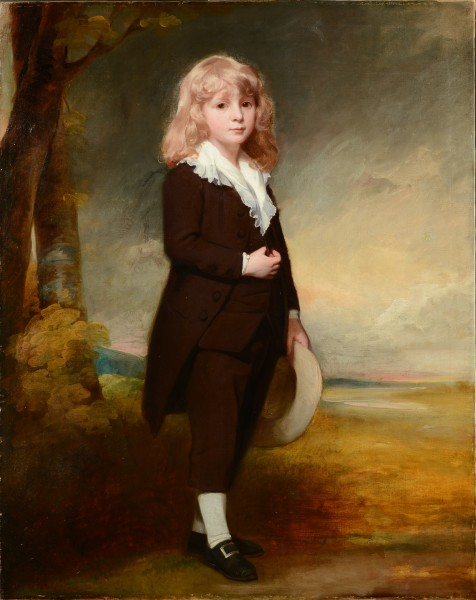 """<div class=""""artist""""><strong>George Romney</strong></div><div class=""""title_and_year""""><em>Portrait of Joseph Mawbey (1772–1817)</em>, <span class=""""title_and_year_year"""">1779–80</span></div><div class=""""medium"""">Oil on canvas, in original frame</div><div class=""""dimensions"""">125 x 99 cm (49 1/4 x 39 in.)</div>"""